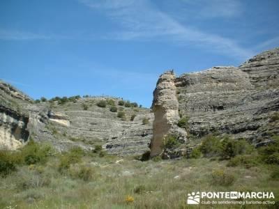 Barranco de Borbocid - Senderismo en Guadalajara; recorridos por madrid; paseos por la sierra de mad
